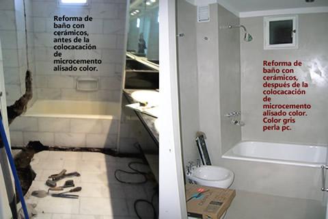 Ba os y cocinas pisos y paredes de microcemento - Microcemento sobre azulejos ...