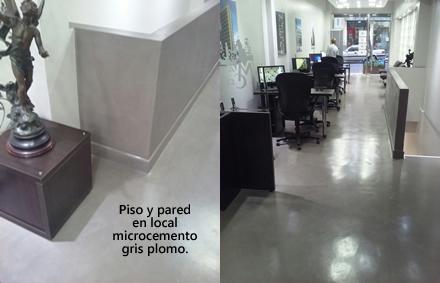 Carpetas de cemento microcemento pisos y paredes de - Como colocar microcemento ...